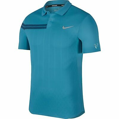 New Nike RF Federer Zonal Tennis Shirt Polo Halle French Open 2018 Asia M UK S