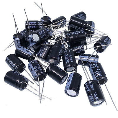 Us Stock 50pcs Electrolytic Capacitors 470uf 470mfd 35v 105 Radial 10 X 15mm