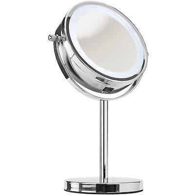 LED Light Cosmetic Makeup Magnifying Vanity Mirror for Bathroom Bedroom Desk Use Health & Beauty