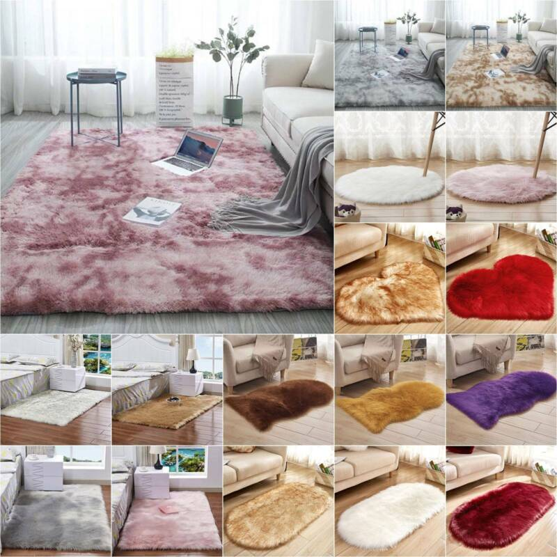 Shaggy Area Rugs Floor Carpet Bedroom Living Room Rug Soft L