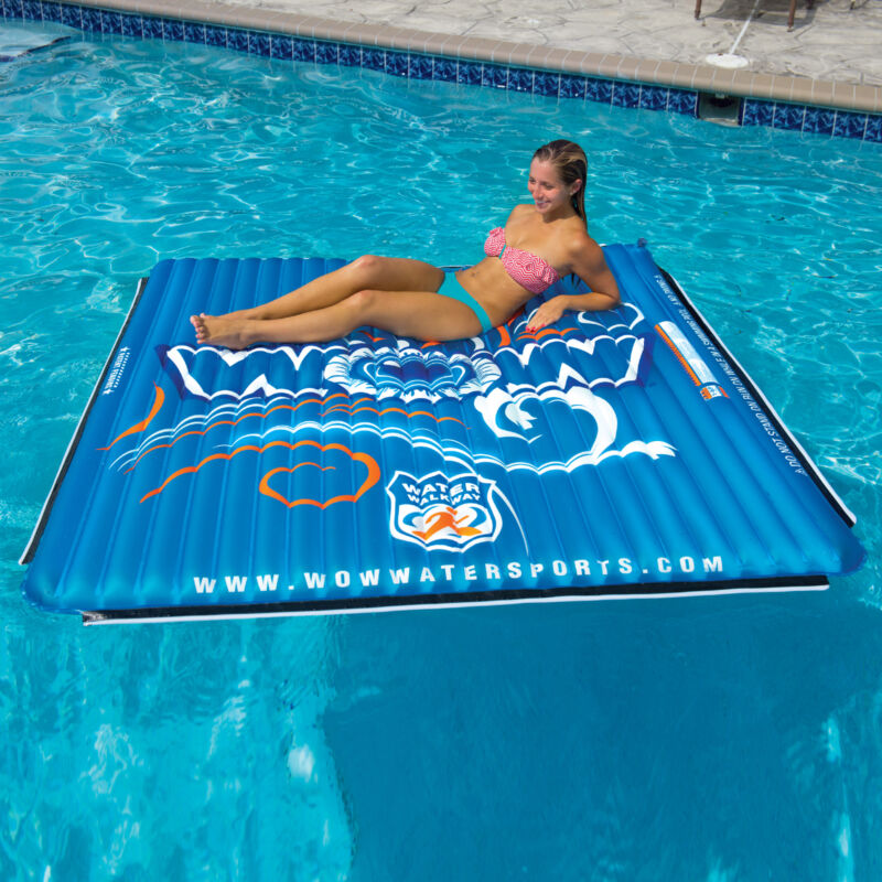 WOW Sports Floating Water Mat For The Pool and Lake - 6X6 Ft. (14-2080)