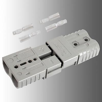 Satz Batteriestecker mit Kupplung grau Anderson SB 120/Rema SR 120 A 25mm²