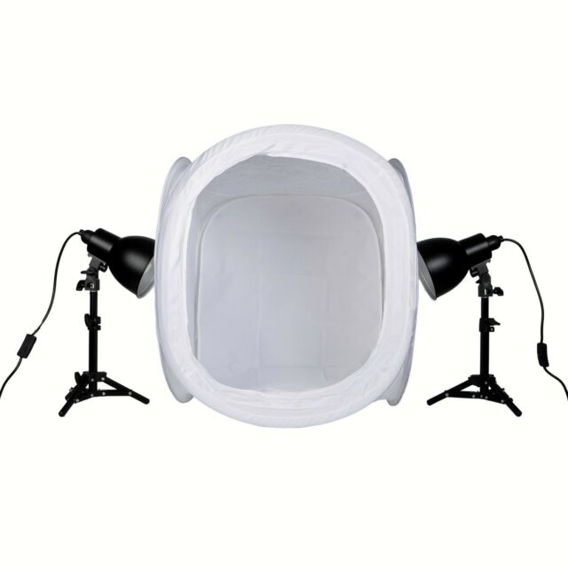 PhotoSEL PPC124 Studio Lighting Kit 52W 60cm Light Tent for Product Photography