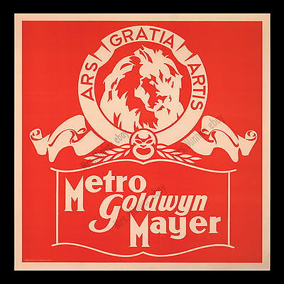 """1930's Metro-Goldwyn-Mayer MOVIE POSTER SIGN ☆ """"More stars than in the heavens!"""""""