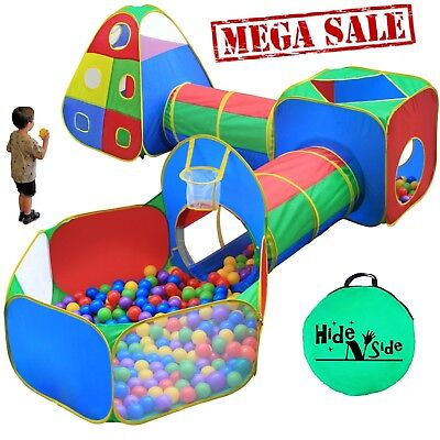 Hide N Side Kids Ball Pit Play Tents Tunnels w/ Basketball Hoop &more FREE SHIP! - Kids Tunnels