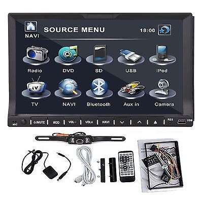 "GPS Satellite Radio TV Bluetooth Car Stereo DVD CD Player 2 Din 7"" HD+Camera on Rummage"