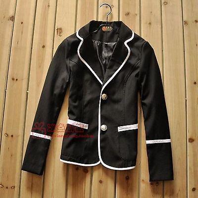 Купить Unbranded - Japanese High School Girls Uniform Black Tartan Jacket Coat Cosplay Costume