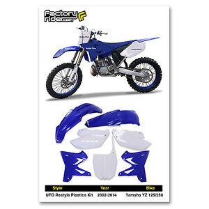 2002 2014 yamaha yz 125 250 restyle ufo dirt bike plastics for Yamaha dirt bike plastics
