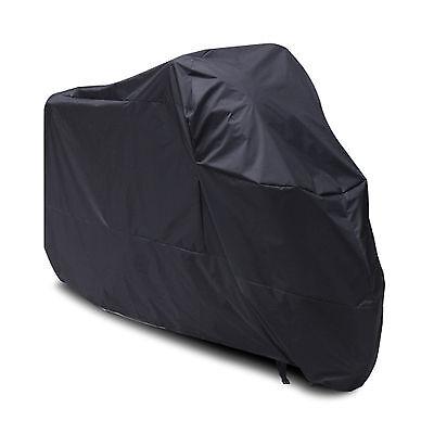 Large Motorcycle Waterproof Outdoor Motorbike Rain Vented Bike Cover Black