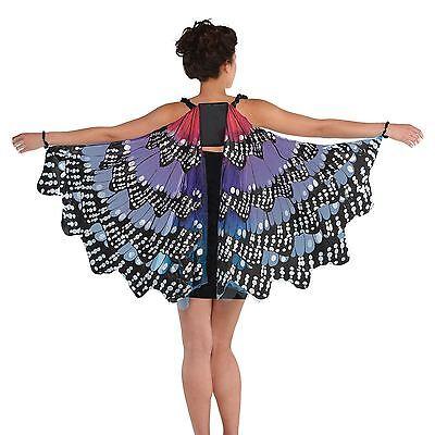 Erwachsene Damen Monarch Schmetterlingsflügel Fee Märchen Umhang Festival Kostüm