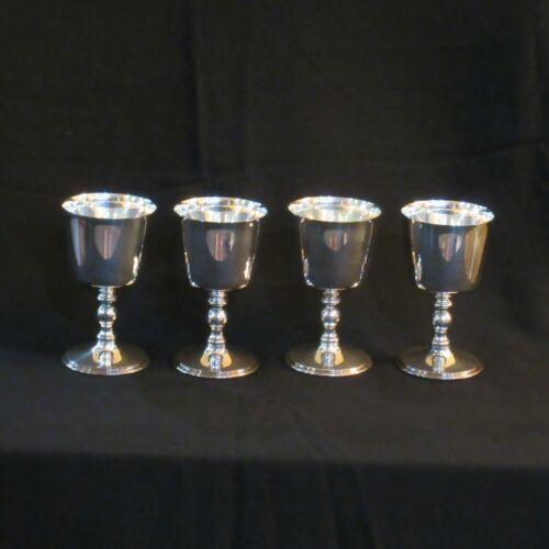 Vintage Barker Ellis Silver Plated Wine Goblets Set 4