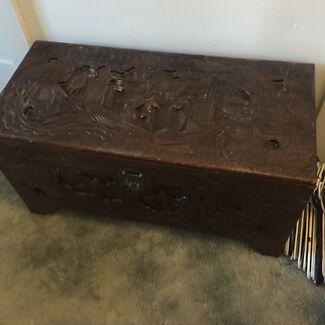 Antique camphor chest