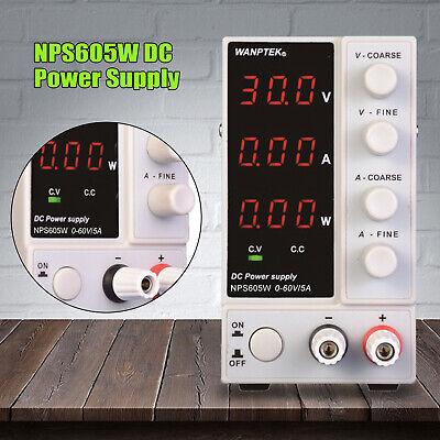 60v 5a Dc Power Supply Adjustable Line Variable Digital Test Lab Grade Cable New