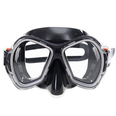 SALVAS Phoenix Black Taucherbrille Profi Tauchermaske Silikon -Made in Italy-