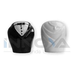 Ceramica-Mr-Pepe-e-Mrs-Sale-Shaker-Contenitore-Set-Regalo-Di-Nozze-BF