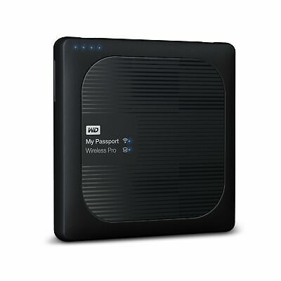 WD 4TB My Passport Wireless Pro Portable External Hard Drive - WiFi AC, SD, USB