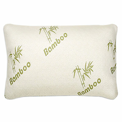 - The Original Memory Foam Bamboo Pillow With Removable Zippered Pillow Case