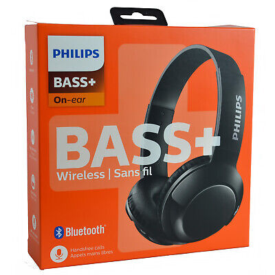 Genuine Philips Bass+ Wireless Bluetooth On-Ear Smartphone Headphones Headset