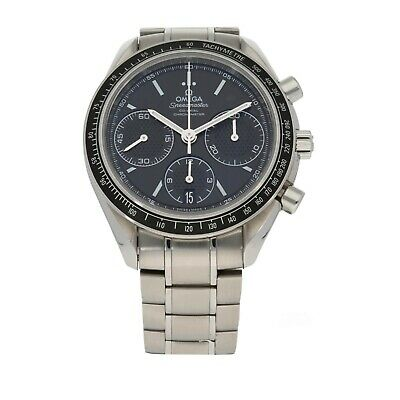 Omega Speedmaster Stainless Steel 40mm Case Black Dial With An 18cm Strap