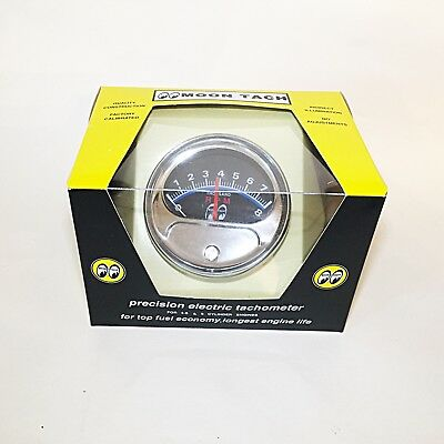 Moon Tach with Chrome Cup- For 4, 6 or 8 Cylinder Engines for sale  Shipping to Canada