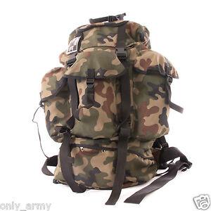 WZ97 Polish Army Rucksack / Backpack NEW In Woodland Camo Genuine Army Surplus