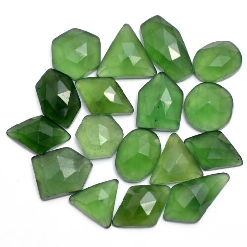 Faceted Natural Serpentine Gemstone 8x9mm-12x17mm Rosecut Cabochons Slices Lot