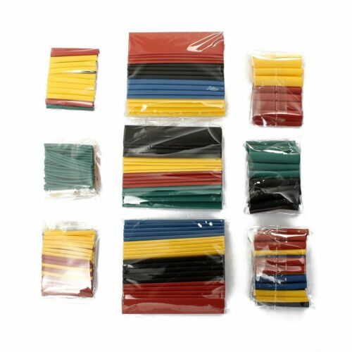 328 pc 2:1 Polyolefin Heat Shrink Tubing Tube Sleeve Wrap Wire Assortment 8 Type