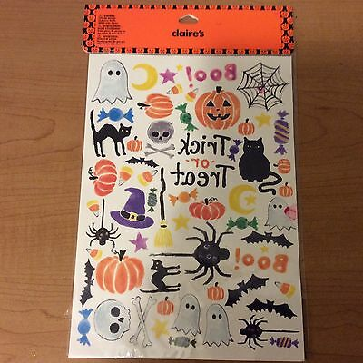 Claire's Temporary Tattoos NEW Halloween Trick or Treat Boo Ghost Cat Pumpkin