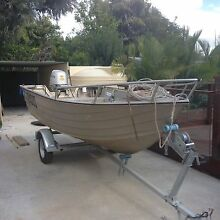 Motor boat and near new trailer Eatons Hill Pine Rivers Area Preview