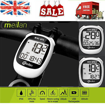 Meilan M3 USB Rechargeable Bike GPS Computer Positioning Bicycle Odometer L7D2