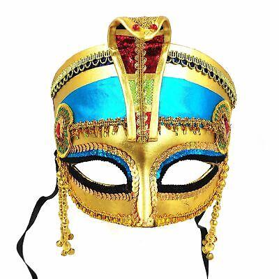 Ägyptische Kleopatra Maske Kopfbedeckung Krone Pharao Alte Queen Maskerade Party