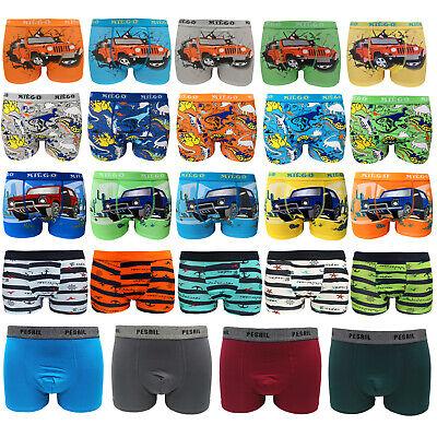6-12Pack Jungen Boxershorts Kinder Kids Baumwolle Unterhose Slips Pants Gr98-164
