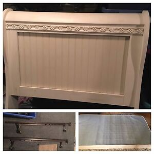 Single headboard, frame and box spring