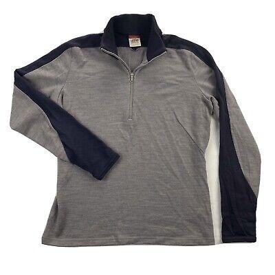 Icebreaker Sport 320 Merino Wool Womens Medium Purple 1/4 Zip Long Sleeve Shirt