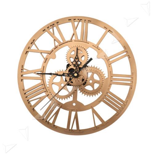 30cm Round Gold Skeleton Clock Acrylic Numerals Retro For St