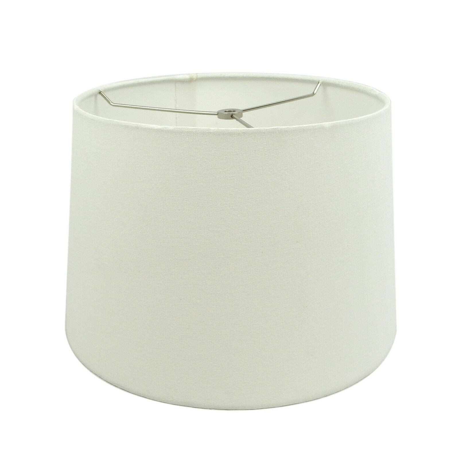 Hardback Drum Off White Fabric Lampshade for Table Lamp 12x1