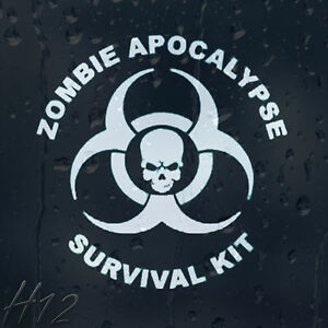 Zombie-Skull-Response-Team-Apocalypse-Survival-Kit-Car-Decal-Vinyl-Sticker