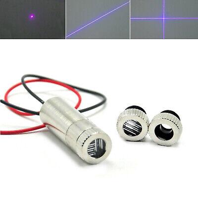 Violetblue 405nm 10mw Focusable Dot Line Cross Laser Diode Module 12x35mm 3v-5v