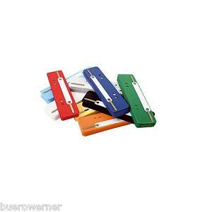 Heftstreifen Abheftstreifen 100 Stück Kunststoff kurz freie Farbwahl
