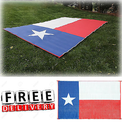 Camping Reversible Mat 9x12' Area Rug Trailer Outdoor Texas Patio RV Accessories