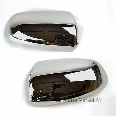 AUDI A4 2001 2005 CHROME CUP WING MIRROR GLASS COVERS