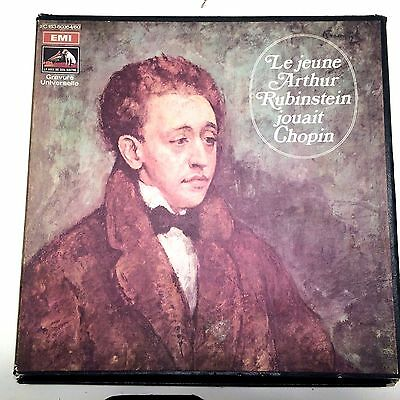 Le Jeune Arthur Rubinstein Jouait Chopin HMV 50354/60 7LP Young Plays Chopin NM
