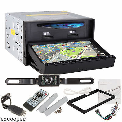 "HD 7"" 2 Din In Dash Car Stereo DVD Player GPS Navigation Bluetooth Radio+CAMERA on Rummage"