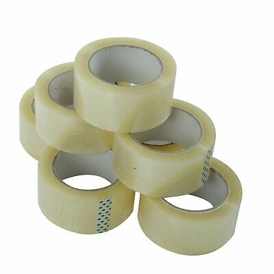 36 Rolls Carton Sealing Clear Packing Tape Box Shipping- 1.8 mil 2