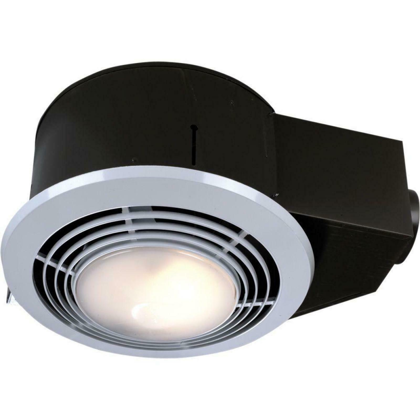 100 Cfm Ceiling Bathroom Exhaust Fan With Light Heater