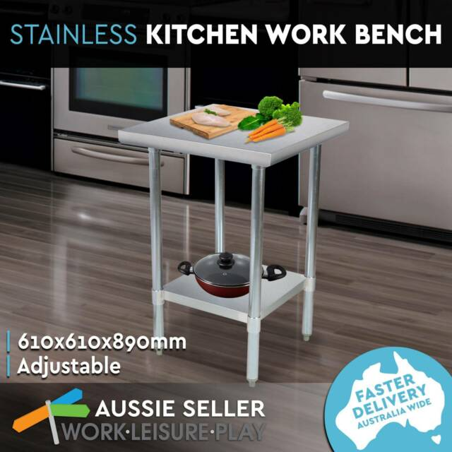 Commercial Stainless Steel Kitchen Work Bench Food Prep