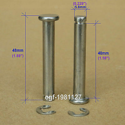 "Luggage Wheel Replacement 6mm Axles Overall Length 1.89""  (Set of 2) 48mm"