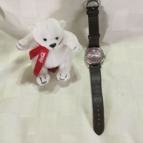 Coca Cola Watch WORKS with Plush Bear 2002, A1