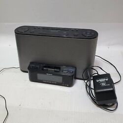 Sony FM/AM Alarm Clock Radio Speaker Dock For iPod/iPhone ICF-CS10iP Black/Gray