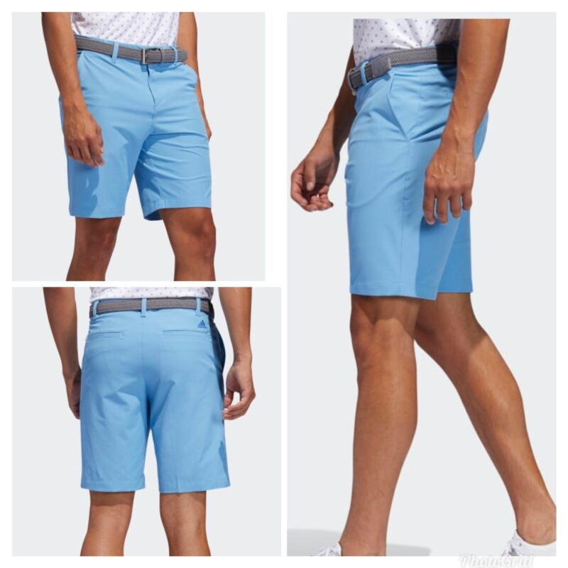 New Adidas Ultimate 365 shorter inseam 8.5 inch Solid Golf Shorts- Light Blue